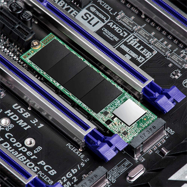 Transcend 512GB Nvme PCIe Gen3 X4 MTE110S M.2 SSD Solid State Drive TS512GMTE110S3