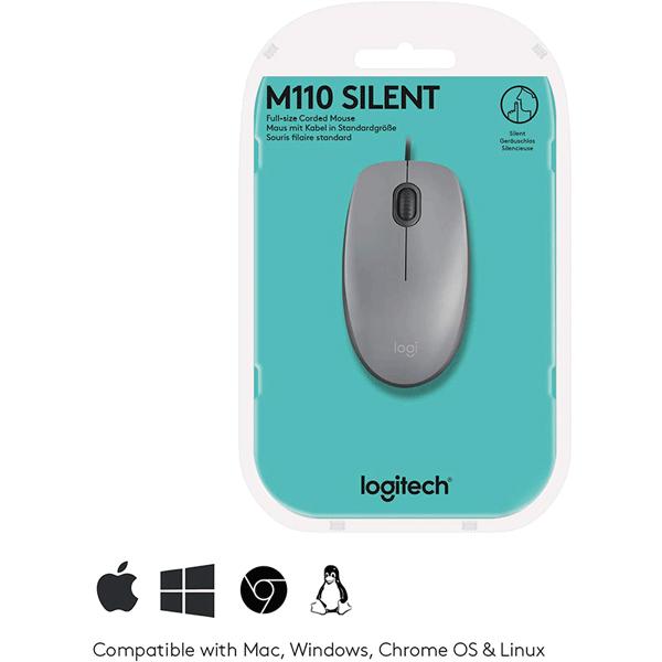 logitech usb silent mouse m110s – mid grey (910-005490)4