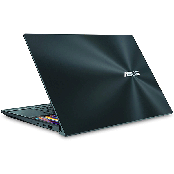 "asus zenbook duo ux481 laptop, 14"" fhd nanoedge bezel touch, intel core i7-10510u, geforce mx250, 16gb ram, 1tb pcie ssd, innovative screenpad plus, windows 10 pro, celestial blue, ux481fl-xs74t4"