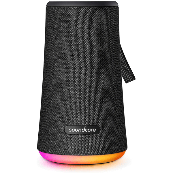 soundcore flare+ portable 360° bluetooth speaker by anker, huge 360° sound, ipx7 waterproof, bigger bass, ambient led light, 20-hour playtime, 4 drivers with 2 passive radiators, speaker for parties4