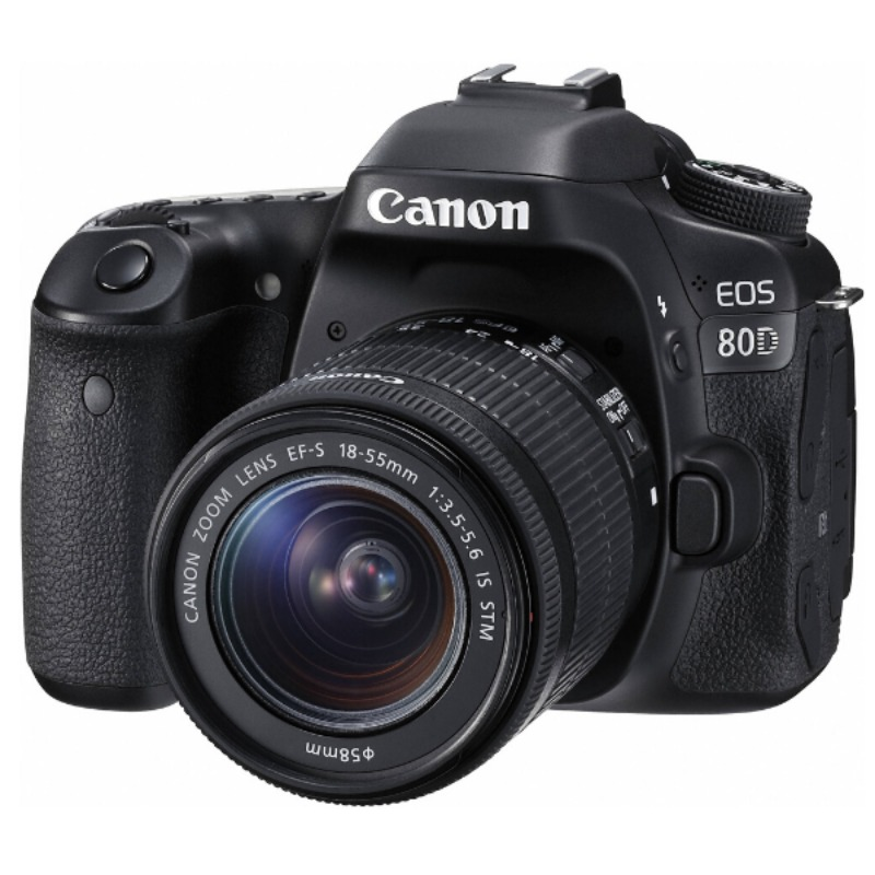 Canon EOS 80D 24.2MP 7fps FHD 1080p Video18-135mm DSLR Camera3