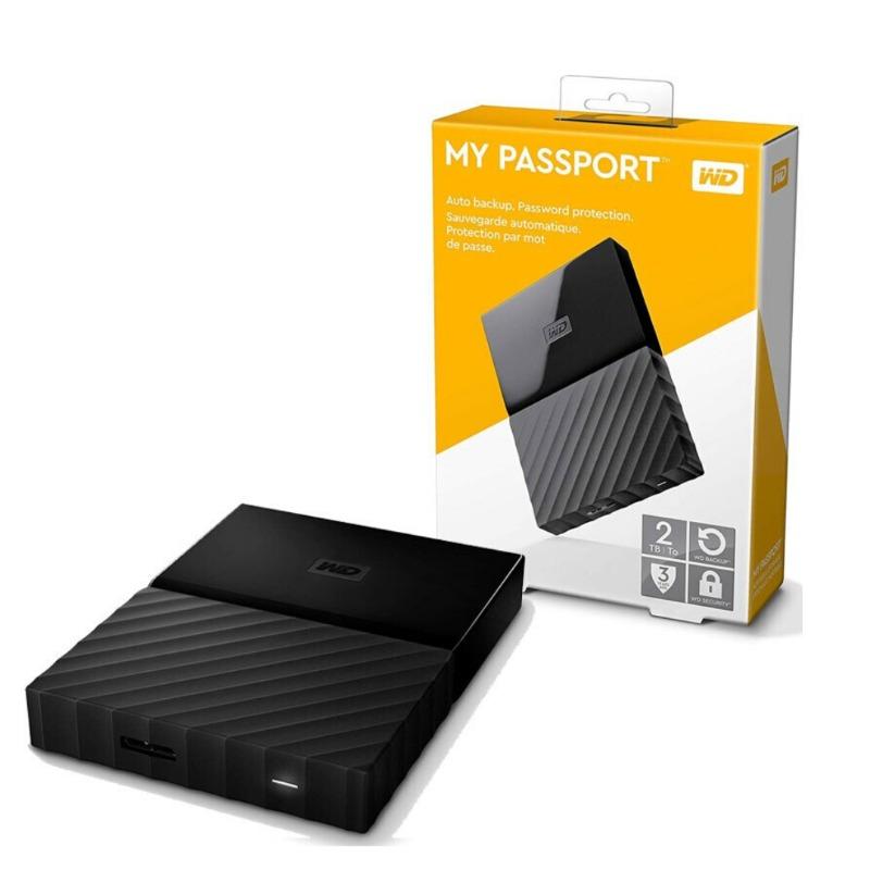WD 2TB My Passport Portable External Hard Drive, Black - USB 3.0 - WDBS4B0020BBK-WESN3