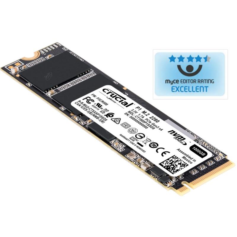 Crucial P1 500GB 3D NAND NVMe PCIe M.2 SSD2