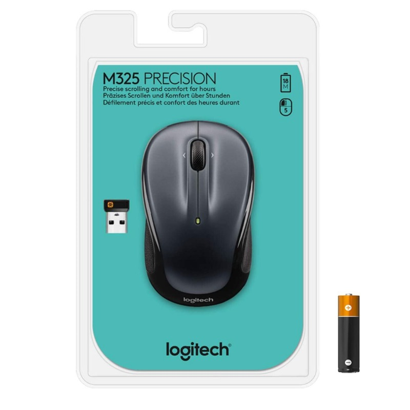 logitech m325 wireless mouse dark grey (910-002142)2