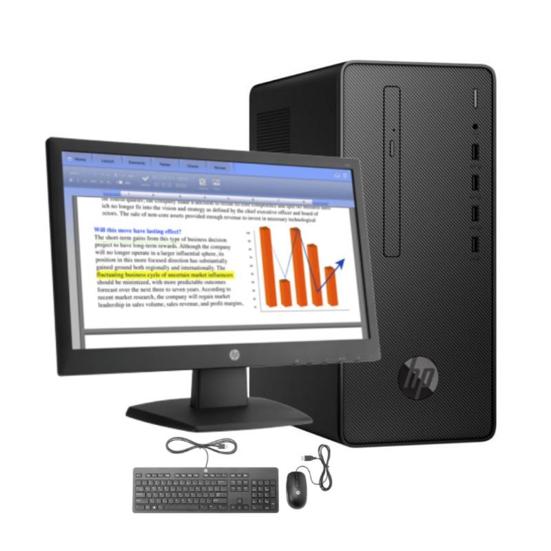 hp 290 g2 microtower desktop 4nu59ea, core i3-8th gen., 4gb ram, 1tb hdd, dvd rw,4
