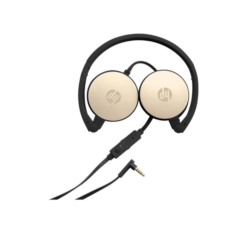 hp stereo headset h2800 (black w. silk gold)3