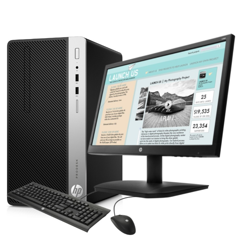 hp desktop pro microtower core i7, 8gb ram, 1tb,  usb keyboard & mouse 18.5″ monitor2