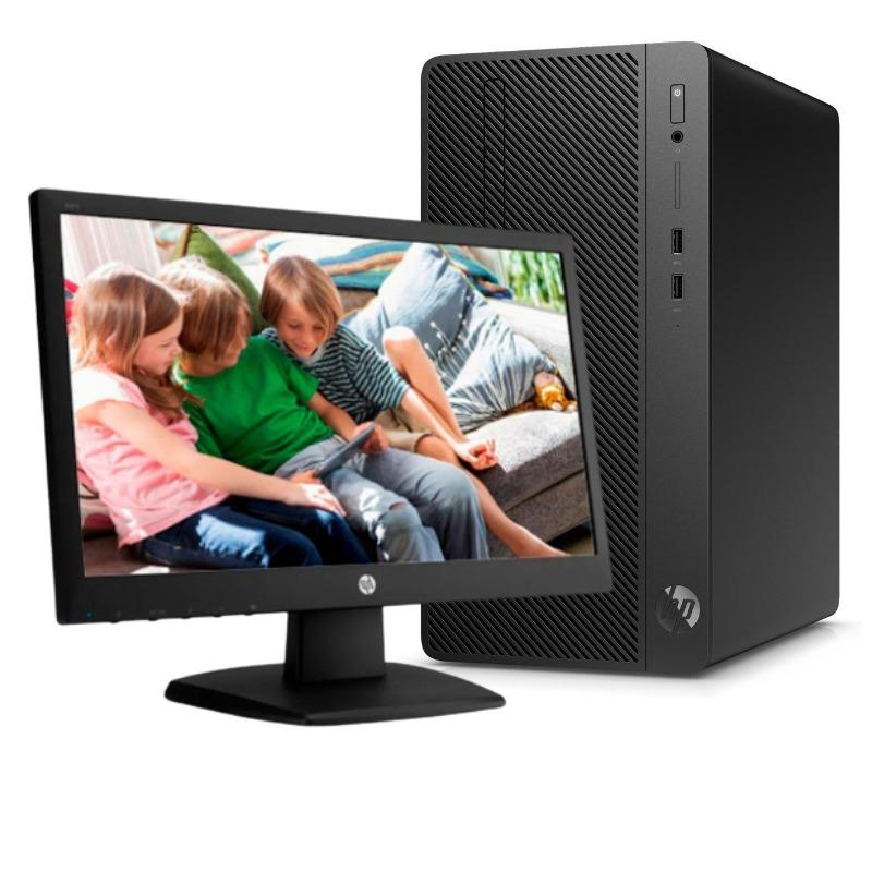 HP 290 G3 Microtower PC Intel Core  i3-9100 , 4 GB RAM ,1 TB Hard Drive ,18.5 Inch Monitor 4