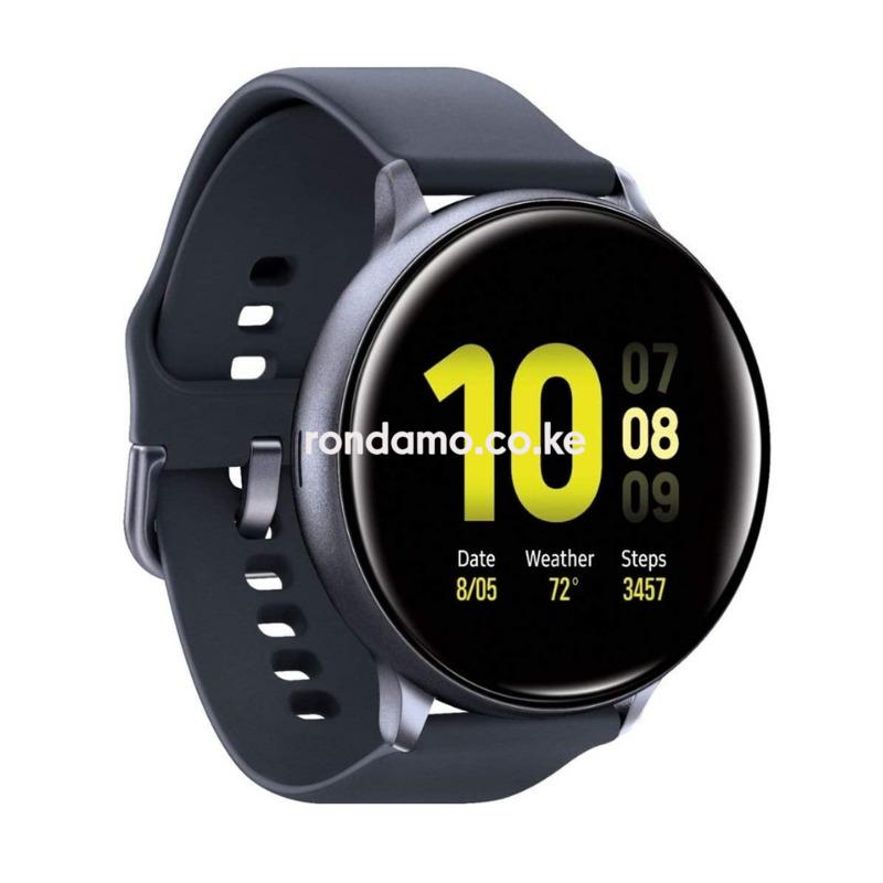 Samsung Galaxy Watch Active2 (Silicon Strap + Aluminum Bezel) Bluetooth (Aqua Black, R820-44mm)3