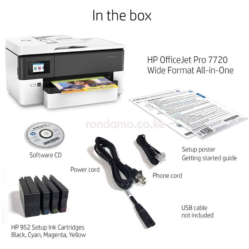 HP OfficeJet Pro 7720 All in One Wide Format Printer with Wireless Printing2