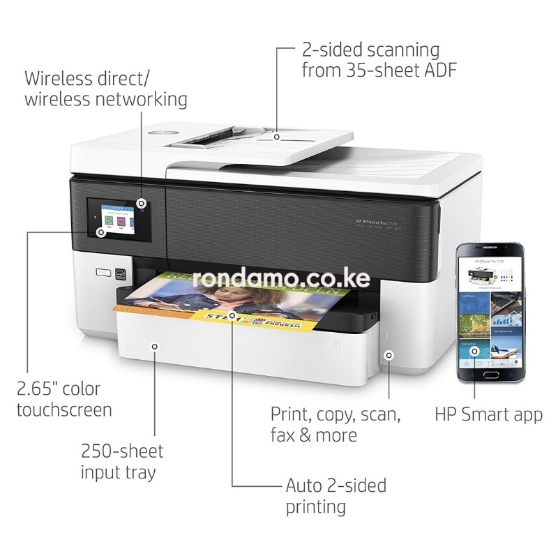 HP OfficeJet Pro 7720 All in One Wide Format Printer with Wireless Printing3