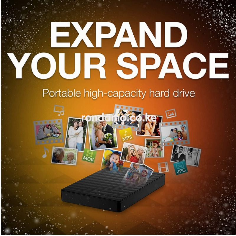 Seagate - Expansion 2TB External USB 3.0 Portable Hard Drive2