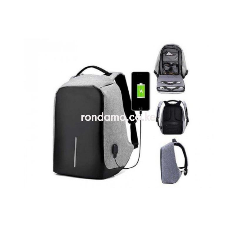 Securepack� Best Anti-Theft USB Charging Travel Backpack Black2