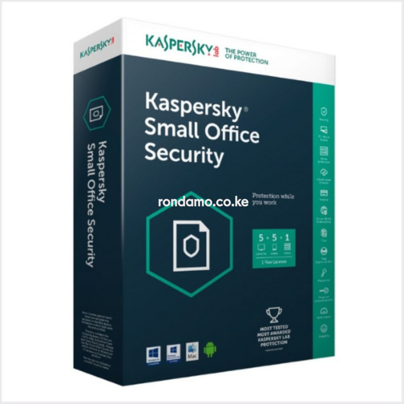 kaspersky small office security latest version- (1 server + 5 machines pcs)2