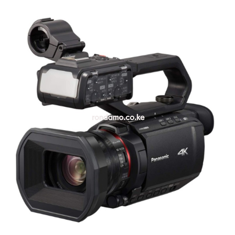 Panasonic X2000 4K Professional Camcorder with 24x Optical Zoom, WiFi HD Live Streaming, 3G SDI Output and VW-HU1 Detachable Handle, HC-X20004