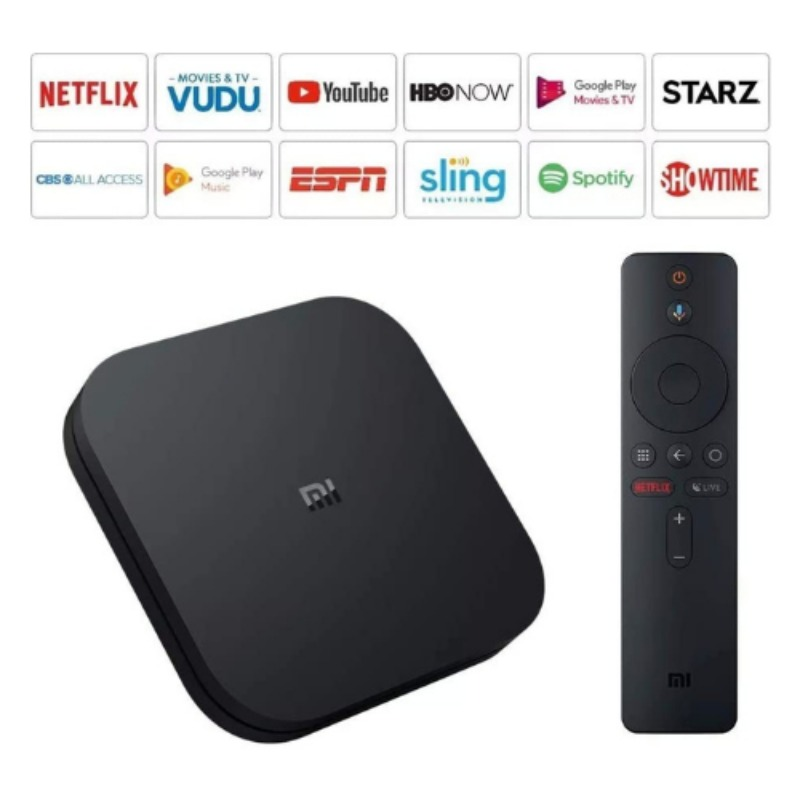 Xiaomi Mi Box S   4K HDR Android TV with Google Assistant Remote Streaming Media Player4