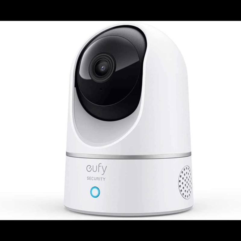 Security Camera, eufy Security 2K Indoor Cam Pan & Tilt, Plug-In Security Indoor Camera with Wi-Fi, IP Camera, Human & Pet AI, Voice Assistant Compatibility, Motion Tracking, HomeBase Not Required2