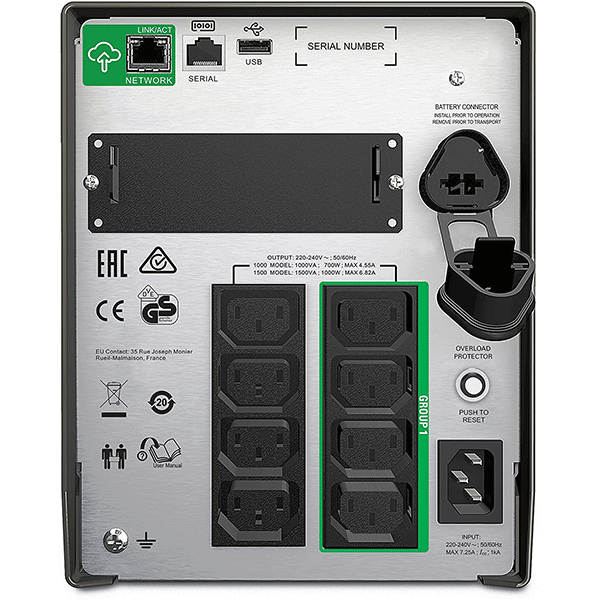 APC SMT1000IC 1000VA LCD 230V Smart-UPS with SmartConnect3
