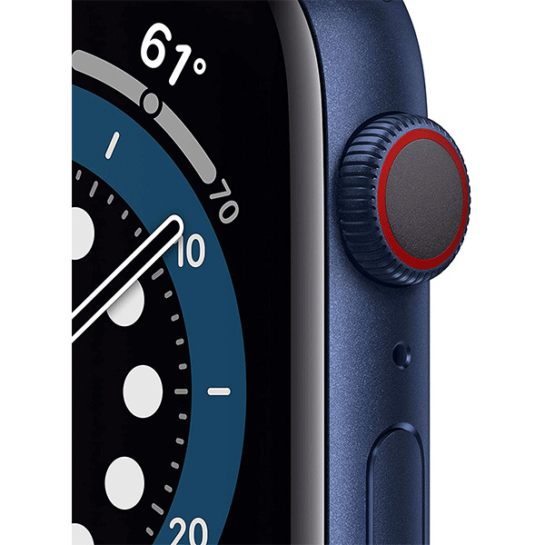 New Apple Watch Series 6 (GPS, 44mm) - Blue Aluminum Case with Deep Navy Sport Band3