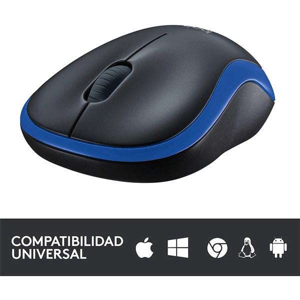logitech wireless mouse m185 - blue (910-002236)3