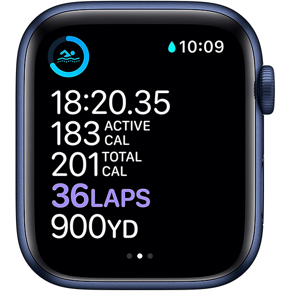 New Apple Watch Series 6 (GPS, 44mm) - Blue Aluminum Case with Deep Navy Sport Band4