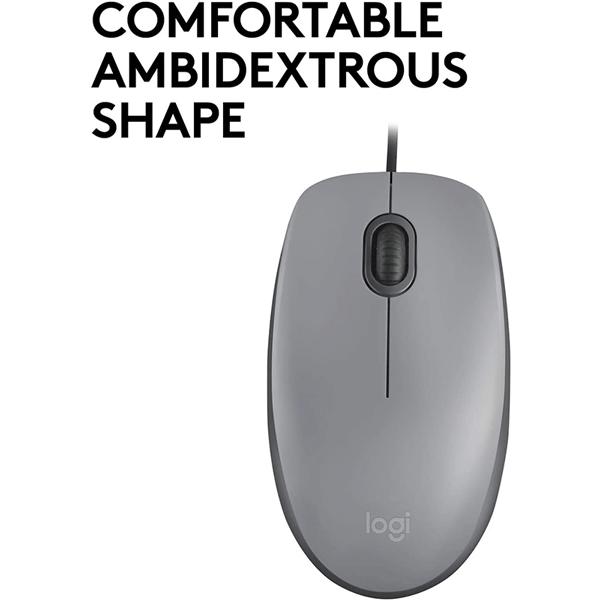 logitech usb silent mouse m110s – mid grey (910-005490)3