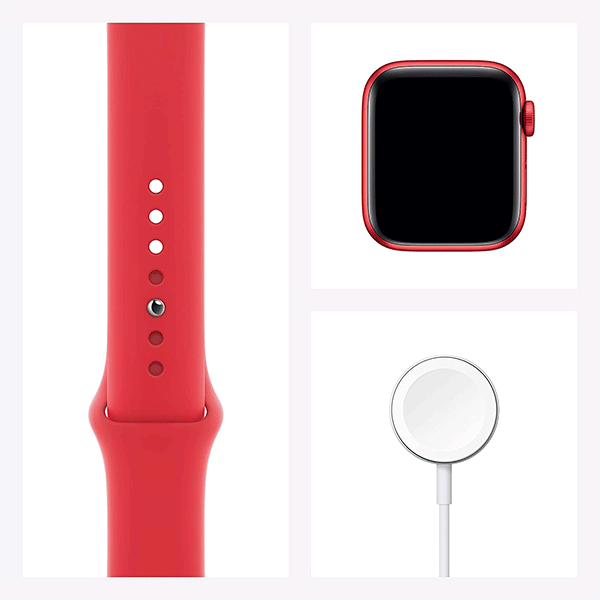 New Apple Watch Series 6 (GPS, 40mm) - (Product) RED - Aluminum Case with (Product) RED - Sport Band4