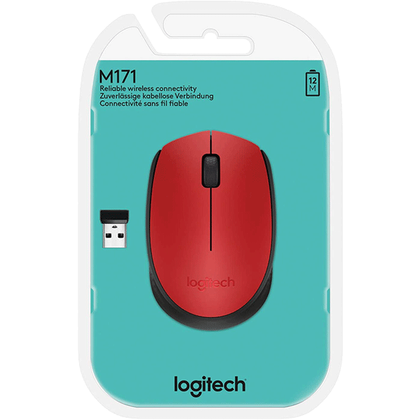 Logitech Wireless Mouse M171 - Red (910-004641)4