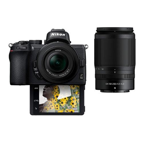 Nikon Z50 Compact Mirrorless Digital Camera with Flip Under