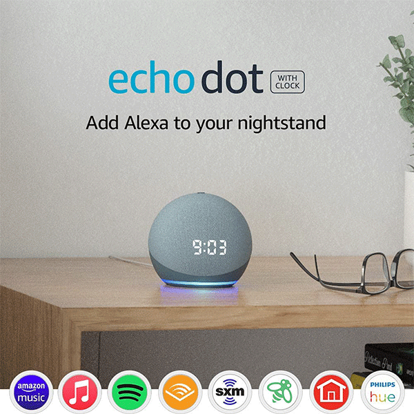 Echo Dot (4th Generation)   Smart speaker with clock and Alexa4