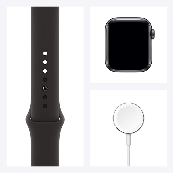 New Apple Watch SE (GPS, 44mm) - Space Gray Aluminum Case with Black Sport Band4