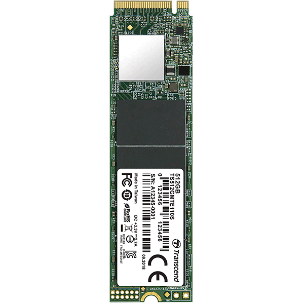 Transcend 512GB Nvme PCIe Gen3 X4 MTE110S M.2 SSD Solid State Drive TS512GMTE110S2