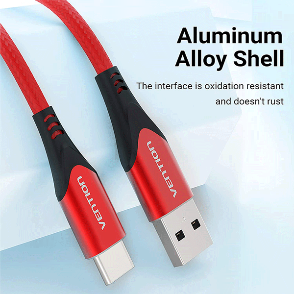 VENTION USB C Cable 3A Fast Charging 6.6FT(2M) Premium Nylon Braided USB A to USB Type C Charger Cable Compatible with All Current Available USB C Devices3