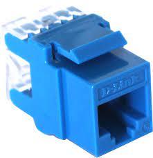 D-Link Cat6 UTP 180 Punch Down Keystone Jack - Blue Colour (NKJ-C6BLU1B21)2