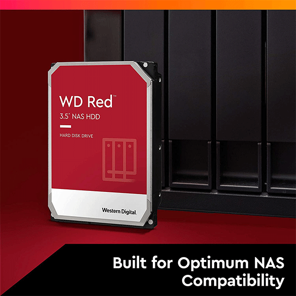 Western Digital 2TB WD Red NAS Internal Hard Drive HDD - 5400 RPM, SATA 6 Gb/s, SMR, 256MB Cache, 3.5