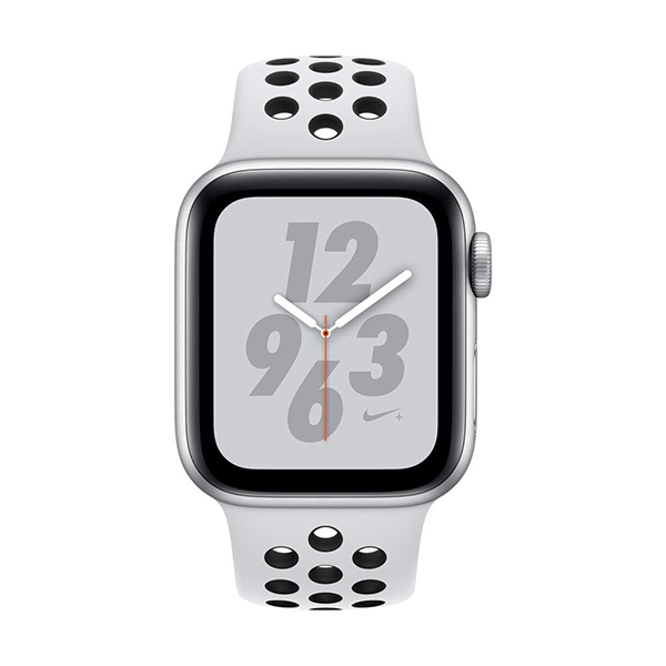 apple watch nike+ series 4 (gps + cellular, 40mm, silver aluminum, pure platinum/black nike sport band)3