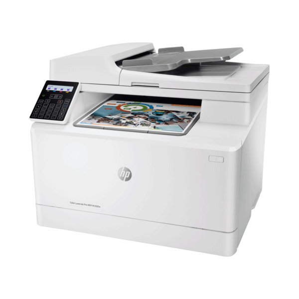 hp color laserjet pro mfp m183fw multifunction wireless printer, scan, copy and fax with built-in fast ethernet, 7kw56a3