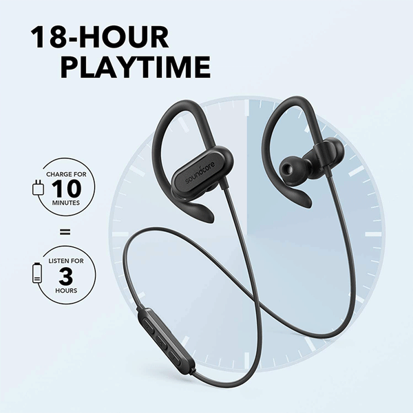 soundcore spirit x 2019 version wireless sports earphones, bluetooth headphones with ip68 waterproof protection, sweatguard, intense bass, 18h playtime, wireless earbuds for running, workout, sports2
