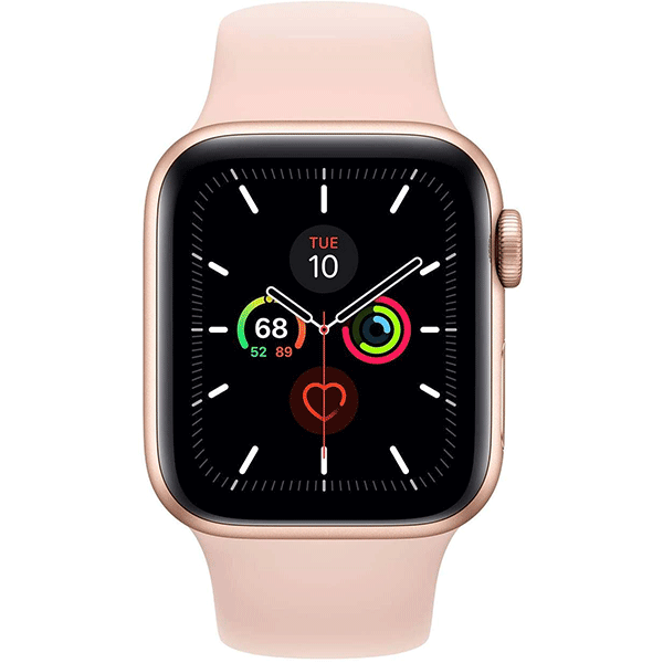 apple watch series 4 (gps, 44mm) - gold aluminum case with pink sand sport band3