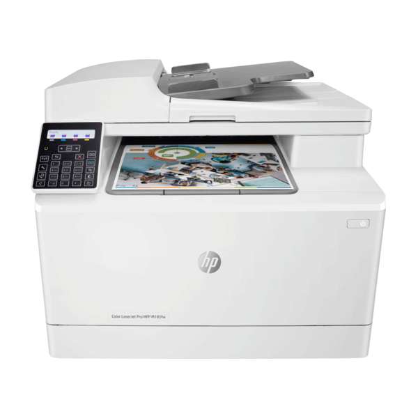 hp color laserjet pro mfp m183fw multifunction wireless printer, scan, copy and fax with built-in fast ethernet, 7kw56a2